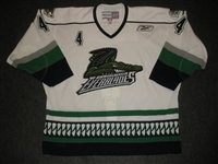 DAmour, Dominic<br>White Set 1<br>Florida Everblades 2011-12<br>#4 Size:56