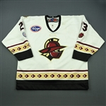 Clark, Jason<br>White Set 1 (A removed)<br>Gwinnett Gladiators 2012-13<br>#23 Size: 56