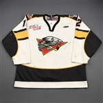 McLeod, Ben<br>White Set 1 w/Kelly Cup Champs Patch<br>Cincinnati Cyclones 2008-09<br>#12 Size: 54