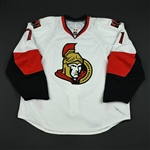 Foligno, Nick<br>White Set 3 / Playoffs (RBK 2.0)<br>Ottawa Senators 2007-08<br>#71 Size: 58