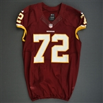 Bowen, Stephen<br>Burgundy, Worn October 20, 2013 vs. Chicago Bears<br>Washington Redskins 2013<br>#72 Size:48 LINE