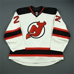 Barch, Krystofer<br>White Set 1<br>New Jersey Devils 2012-13<br>#22 Size: 58