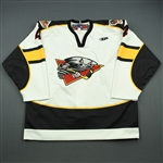 Seabrook, Keith / Klaver, Jeremy<br>White Set 1<br>Cincinnati Cyclones 2011-12<br>#4 Size: 56