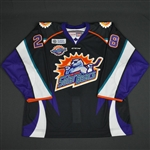 Watling, Patrick<br>Black Alternate - w/10 yr. patch - Game Issued<br>Orlando Solar Bears 2015-16<br>#28 Size: 54