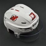 Cammalleri, Michael<br>White, CCM Helmet w/ Shield<br>New Jersey Devils 2016-17<br>#13 Size: Medium