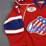 Larman, Drew * <br>Red Set 1<br>Rochester Americans 2008-09<br>#7 Size: 56