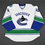 Lapierre, Maxim * <br>White - Playoff Set (Western Conference Quarterfinals)<br>Vancouver Canucks 2010-11<br>#40 Size: 58