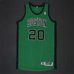 Allen, Ray * <br>Green Alternate Regular Season -  Photo-Matched to 1/16/12 vs. Oklahoma City Thunder<br>Boston Celtics 2011-12<br>#20 Size: XL+2