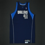Nowitzki, Dirk * <br>Navy Playoffs - Photo-Matched to 3 Games<br>Dallas Mavericks 2008-09<br>#41 Size: 54+4