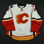 Greentree, Kyle<br>White Set 1 (RBK Version 2.0)<br>Calgary Flames 2008-09<br>#47 Size: 58