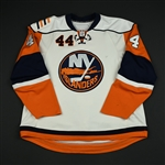 Meyer, Freddy<br>White Set 2 (RBK 1.0)<br>New York Islanders 2007-08<br>#44 Size: 56