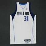 Terry, Jason * <br>White Set 2  - Photo-Matched to 3 Games<br>Dallas Mavericks 2007-08<br>#31 Size: 48 + 2