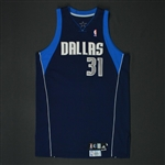 Terry, Jason * <br>Navy Set 1 - Photo-Matched to 2 Games<br>Dallas Mavericks 2008-09<br>#31 Size: 48 + 2