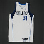 Terry, Jason * <br>White Set 2 - Photo-Matched to 5 Games<br>Dallas Mavericks 2008-09<br>#31 Size: 48 + 2