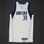 Terry, Jason * <br>White Set 2 - Photo-Matched to 3 Games<br>Dallas Mavericks 2009-10<br>#31 Size: 46