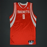 Brooks, Aaron * <br>Red Regular Season - Photo-Matched to 14 Games<br>Houston Rockets 2009-10<br>Size: 46