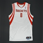 Brooks, Aaron * <br>White Regular Season - Photo-Matched to 10 Games<br>Houston Rockets 2009-10<br>Size: 46
