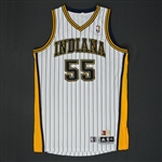 Hibbert, Roy * <br>White Hardwood Classics   - Photo-Matched to 6 Games<br>Indiana Pacers 2012-13<br>#55 Size:XXL
