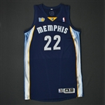 Gay, Rudy * <br>Navy Regular Season w/10th Anniversary Patch<br>Memphis Grizzlies 2010-11<br>#22 Size: XXL