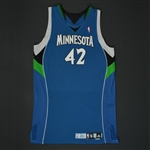 Love, Kevin * <br>Blue Set 1  - Photo-Matched  to 4 Games<br>Minnesota Timberwolves 2009-10<br>#42 Size: 50