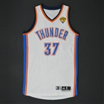 Fisher, Derek * <br>White Finals Game 1 - Photo-Matched  - Also worn in the regular season and playoffs<br>Oklahoma City Thunder 2011-12<br>#37 Size:L+2