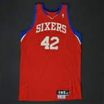 Brand, Elton * <br>Red Set 1 - Photo-Matched to 14 Games<br>Philadelphia 76ers 2009-10<br>#42 Size: 50