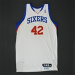 Brand, Elton * <br>White Set 2 - Photo-Matched to 4 Games<br>Philadelphia 76ers 2009-10<br>#42 Size: 50