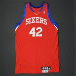 Brand, Elton * <br>Red Set 2  - Photo-Matched to 2 Games<br>Philadelphia 76ers 2009-10<br>#42 Size: 50