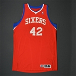 Brand, Elton * <br>Red Regular Season - Photo-Matched to 8 Games<br>Philadelphia 76ers 2010-11<br>#42 Size: 4XL+4