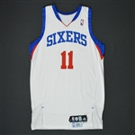 Holiday, Jrue * <br>White Set 2 - Photo-Matched to 7 Games<br>Philadelphia 76ers 2009-10<br>#11 Size: 44