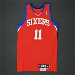 Holiday, Jrue * <br>Red Set 2  - Photo-Matched to 9 Games<br>Philadelphia 76ers 2009-10<br>#11 Size: 44