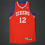 Turner, Evan * <br>Red Regular Season - Photo-Matched to 10 Games<br>Philadelphia 76ers 2010-11<br>#12 Size:XXL
