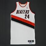 Miller, Andre * <br>White Regular Season/Playoffs - Photo-Matched to 12 Games<br>Portland Trail Blazers 2009-10<br>#24 Size: 48+6