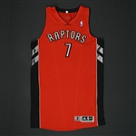 Bargnani, Andrea * <br>Red Regular Season - Photo-Matched to 2 Games<br>Toronto Raptors 2010-11<br>#7 Size: XXL