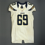 Green, Tyronne<br>White - worn November 11, 2012 vs. Tampa Bay<br>San Diego Chargers 2012<br>#69 Size: 48+4
