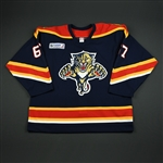 Olesz, Rostislav * <br>Blue w/ Katrina Relief Patch<br>Florida Panthers 2005-06<br>#67 Size: 56