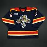 Stewart, Anthony * <br>Blue w/ Katrina Relief Patch GI<br>Florida Panthers 2005-06<br>#57 Size: 56