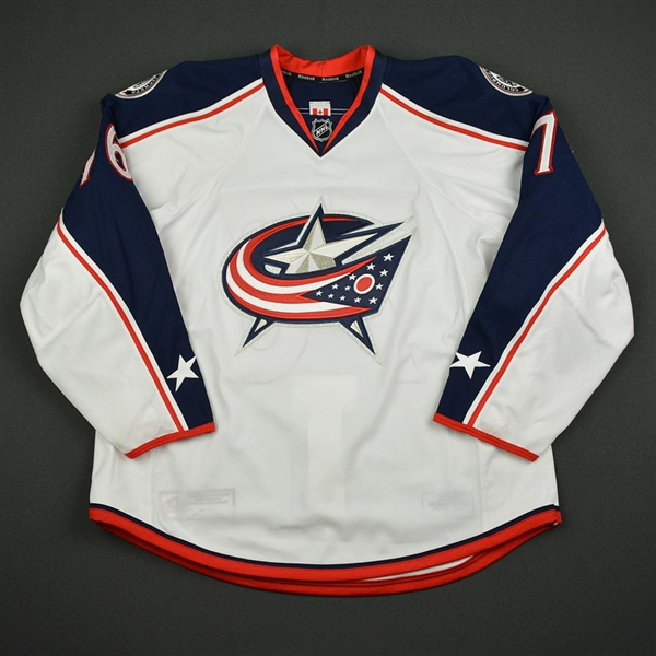 Beauvillier, Francis<br>White Set 1 - Training Camp Only<br>Columbus Blue Jackets 2016-17<br>#76 Size: 56