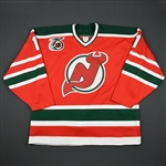 Billington, Craig * <br>Red w/NHL 75th and Devils 10th anniversary patches - Back-up Only<br>New Jersey Devils 1991-92<br>#1