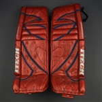Valiquette, Steve<br>Itech Prodigy Red Goalie Pads<br>Hartford Wolf Pack 2004-05<br>#40