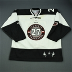 Hoffman, Mike<br>White Set 1<br>Las Vegas Wranglers 2011-12<br>#27 Size: 58