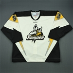 Foy, Matt<br>White Set 1 (A removed)<br>Stockton Thunder 2011-12<br>#83 Size: 56