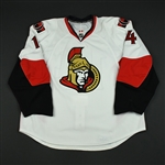 Meszaros, Andrej<br>White Set 3 / Playoffs (RBK 2.0)<br>Ottawa Senators 2007-08<br>#14 Size: 58+