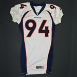 Traylor, Keith * <br>White - Authentic  Pro-Cut - CLEARANCE<br>Denver Broncos 1999<br>#94 Size:48