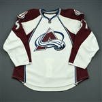 Brennan, Mike<br>White Set 1 - Game-Issued (GI)<br>Colorado Avalanche 2011-12<br>#57 Size: 56