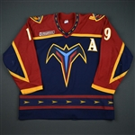 Emerson, Nelson * <br>Blue w/A and NHL 2000 patch<br>Atlanta Thrashers 1999-00<br>#19 Size: 54