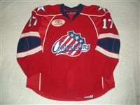Collins, Dan<br>Red Set 1<br>Rochester Americans 2008-09<br>#17 Size: 56