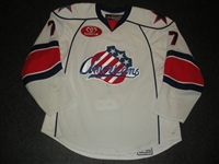 Larman, Drew<br>White Set 1<br>Rochester Americans 2008-09<br>#7 Size: 56