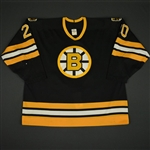 Sweeney, Bob * <br>Black<br>Boston Bruins 1989-91<br>#20 Size: 58