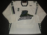 McGinnis, Ryan<br>White Set 1<br>Florida Everblades 2008-09<br>#2 Size: 56